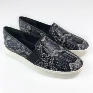 NEW Vince Blair Snakeskin Leather Slip-On Sneakers